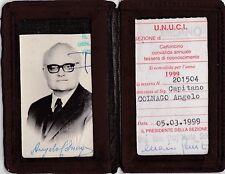 TESSERA UNIONE NAZIONALE UFFICIALI IN CONGEDO - CAPITANO G.A.F. 32-33