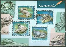CENTRAL AFRICA 2014 CROCODILES SHEET MINT NH