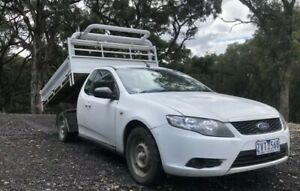 2008 FORD FALCON FG TIPPER UTE AUTO LPG GAS CAB CHASSIS ONE TONNER TRAY TIPPING