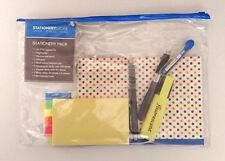 OFFICE ESSENTIALS STATIONERY PACK Wallet Pens Sticky Note + Tabs A5 EXERCISE BK