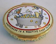 Halcyon Days English Enamels Grandpa Duck Money Trinket Box As Is