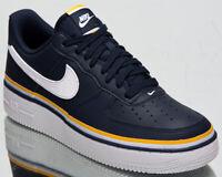 Nike Air Force 1 '07 LV8 1 Ribbon Men's Obsidian White Gold Lifestyle Sneakers