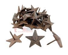 12 Cast Iron 1.5 in Mini Texas Star Nails Tacks Rustic Finish Western 1 in Nail