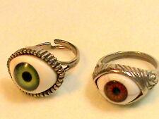 Brown Evil Eye Ring and Green Evil Eye Ring