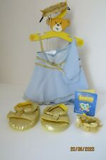 Build-A-Bear clothes outfit International Roman style blue GODDESS Mega Rare