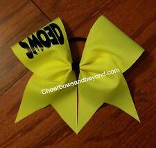 Neon Yellow SMOED Cheer Bow