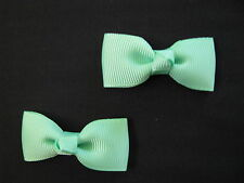 baby girl hair accessories green mint bow clips small