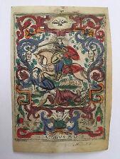 S Iacobvs Maior magnifique Image pieuse d'Anvers époque fin XVI° holy cards