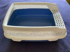 Trixie Delio Cat Litter Tray with Rim - Kitten Deep Blue Box Prevents Scattering