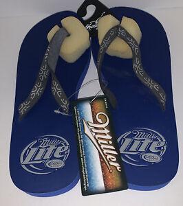 Vintage Miller Lite Flip Flops Sandals 2007-NOS SZ Large 9-10