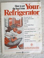 GE REFRIGERATOR FREEZER TRX22R / TRX24R Manual Information Booklet Owner's Guide