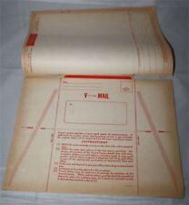 feuillet  V mail  américain 2e WW