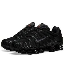 Nike Shox TL 'Metallic' Trainers Triple Black Mens Uk Size 10 45 AV3595 002 New