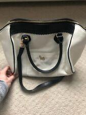 Emma Fox black/white bowling satchel with longer shoulder strap