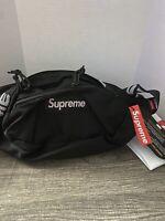 Brand New Supreme Black Waist Bag Shoulder Bag Fanny Pack  Unisex