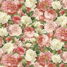 Lula Bijoux Vintage Rose Bouquet 100% Cotton Fabric by the Yard