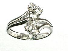 Zirkonia Kristall Ring massiv Silber Sterling 925 Ø 18mm