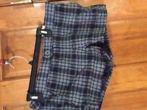 New Aeropostale wool plaid shorts 9-10 $69 NWT