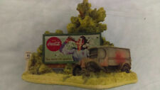 Lilliput Lane Hazards Of The Road #893 Coca Cola Billboard 2 Sided Hard To Find