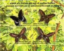 India - 5 nos - Endemic butterflies of Andaman m/s - 2008 issue - MNH
