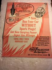 Vintage Automotive Advertising Fire Injector Fuel Igniters Brochure J C Whitney