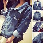 2017 Stylish Women Lady Denim Oversized Vintage Jean Jacket Boyfriend Loose Coat