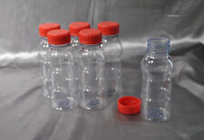 EMPTY CLEAR PLASTIC 8oz BOTTLES WITH SCREW CAPS - CRAFTS & STORAGE READY