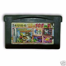 【105 in 1】Nintendo Game Boy Advance SP Handheld System Cartridges