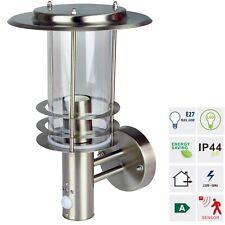 Grafner 17WBPIR Edelstahl Wandlampe mit Bewegungsmelder Wandleuchte Hofleuchte
