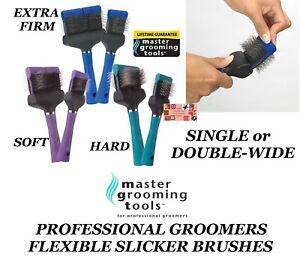 MGT FLEXIBLE SLICKER BRUSH Regular or Wide FLEX Hair Coat De-Shed Pet Grooming