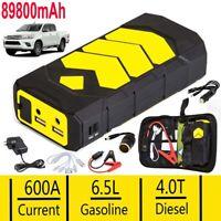89800mAh Heavy Duty 600A USB Car Jump Starter Booster Power Bank Battery Charger