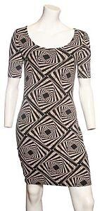 Ex Dorothy Perkins Stretch Aztec Design Dress Sizes 6 8 12
