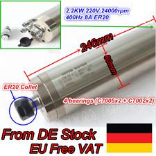 【DE】 2.2KW Wassergekühlte Spindle/Fräse Spindel Carved Metal ER20 220V 4 Bearing