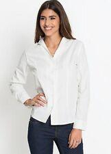 Bodyflirt @ Kaleidoscope White Fitted Long Sleeve Shirt / Blouse Size 16