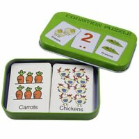 Anti-Tear Flash Cards Learning Alphabet Puzzle Cards, Matching Puzzle Cogni Z8H8