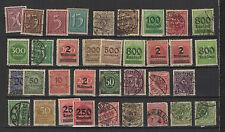 30 timbres oblitrés ALLEMAGNE DEUTSCHES REICH /T1088