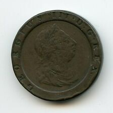 1797 ENGLISH COPPER GIANT 2 PENCE #E-1 YEAR ONLY -KING GEORGE III-CHEAP-REDUCED