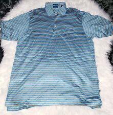 Como Polo Shirt Large Mens Italy Stripe
