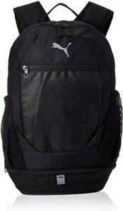 Puma Vibe Backpack Sports Bag Gym College School Rucksack Bags Black Holdall NEW