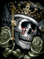 5D Diamond Painting Skeleton King Skull Rose Full drill Fashion Handicraft 6251X