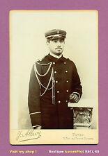 CDV CABINET ALLEVY à PARIS : MILITAIRE OFFICIER DE LA MARINE VERS 1890  -L60