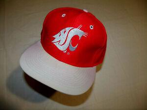 "Washington State Cougars Red Hat/Gray Brim Vintage ""Logo 7"" Men's Snapback"