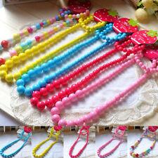 Princess Girls Colorful Beads Necklace Kids Baby Bracelet Toddler Jewelry Fashio