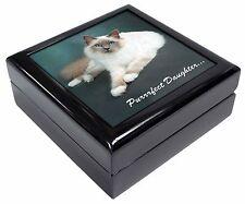 Birman Cat 'Purrrfect Daughter' Keepsake/Jewellery Box Christmas Gift, PD-85JB