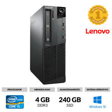 ORDENADOR SOBREMESA LENOVO M91P SFF CORE I5-2400S 4GB 240GB SSD DVD WINDOWS 10