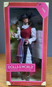 Dolls Of The World CHILE Barbie Doll Passport Hat & Terrier Dog