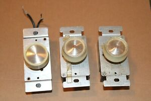 Vintage dimmer light switches lot of 3