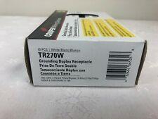 Cooper Grounding Duplex Receptacle, Tamper Resistant Tr270W, Box of 10 (Nib)