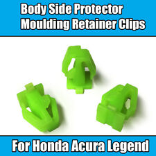 10x Clip Acura Legend Honda Body Side Protector Moulding Retainer Green Plastic