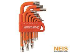 Kincrome Tamperproof Torx® Key Set Short Series 9Pce Sizes T10H to T50H K5145